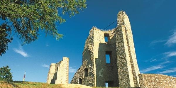 Nims-Radweg_Blick auf die Burgruine Schönecken