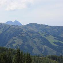 Blick auf die Gondelstation Grossarl