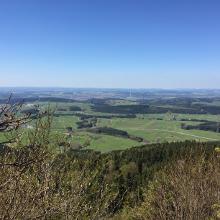 Oberhohenberg - Blick auf Rottweil