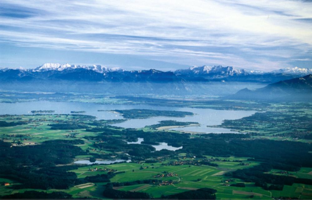 das Chiemgau mit dem Chiemsee