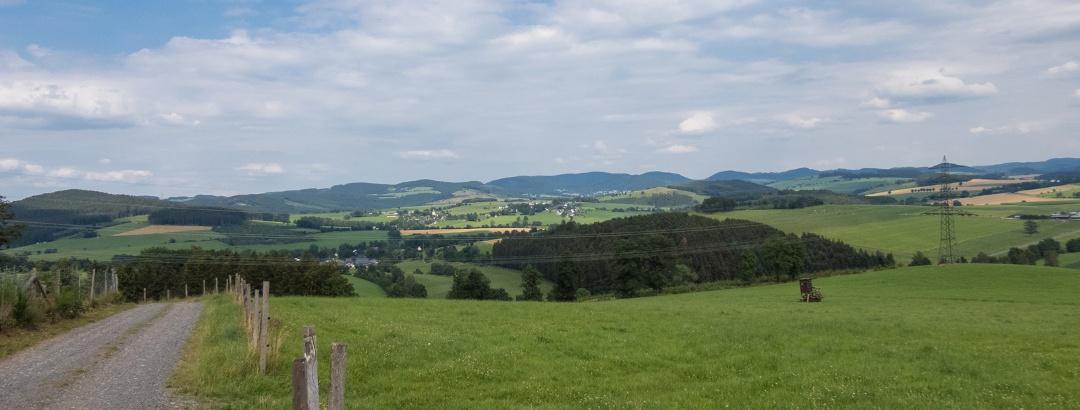 Blick auf das Hawerland