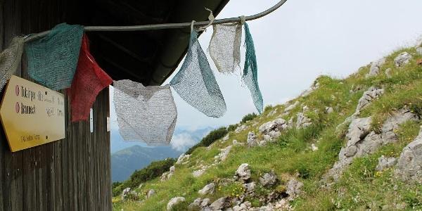 Biwakhütte am Gipfel