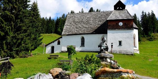 St Agatha Kirche am Kristberg im Silbertal