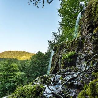 Der Gütersteiner Wasserfall.
