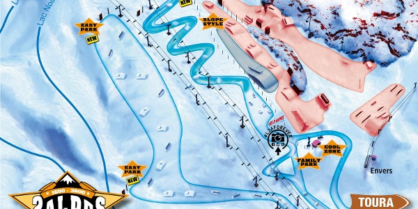 Der Snowpark in Les 2 Alpes