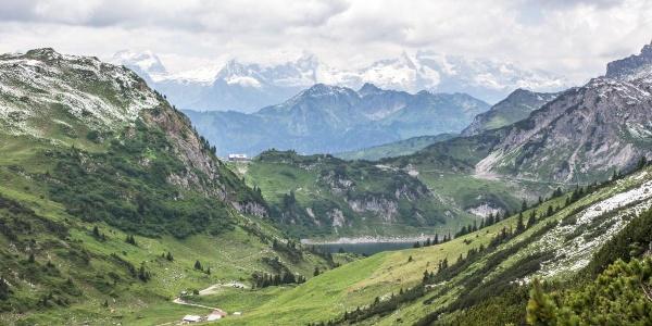 Auf dem Weg vom Johannesjoch zur Alpe Formarin