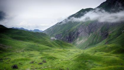 Blick zur Memminger Hütte