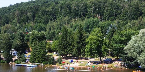 Badestrand am Altenberger See