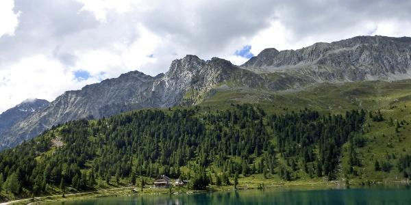 An der Oberseehütte beginnt die Wanderung