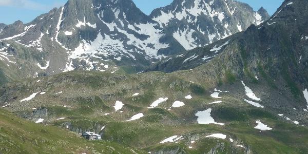 Blick auf Maighelshütte