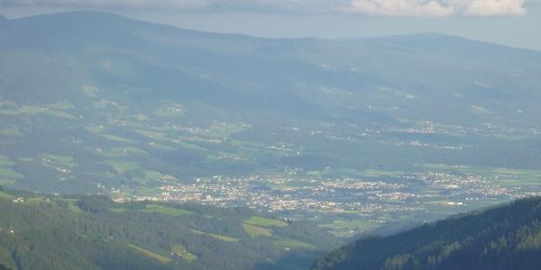 Klippitztörl Blick auf Wolfsberg