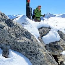 Am Gipfel 3.291 m