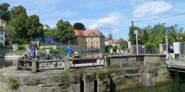 Bamberg-Villa Concordia und Schleuse Ludwig-Donau-Kanal