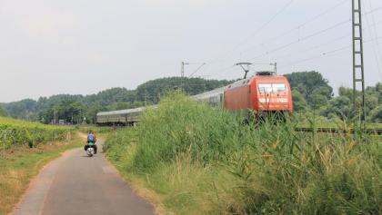 Radfahren am Roten Hang