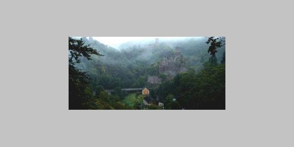 Burgen im Nebel