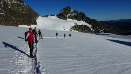 Aufstieg über den Ochsentaler Gletscher