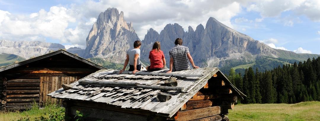 Panoramablick auf der Seiser Alm