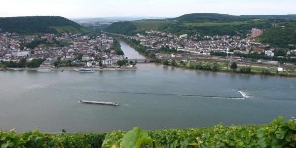 Die Mündung der Nahe in den Rhein in Bingen.