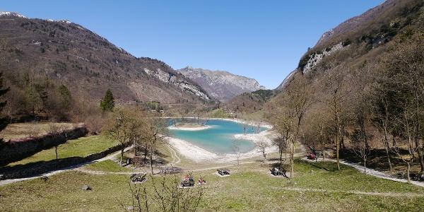 Blick auf den Lago di Tenno