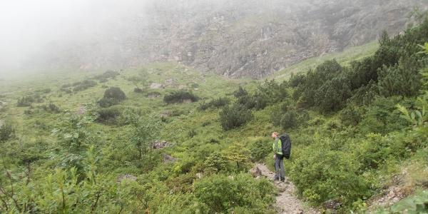 Im Aufstieg kurz vor der Steilstufe