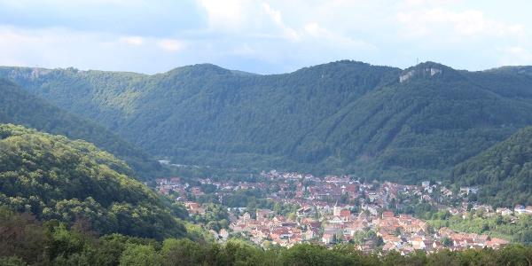 Blick vom Imenberger Sättele nach Lichtenstein-Unterhausen