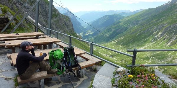 Blick von der Terrasse nach Campo Blenio
