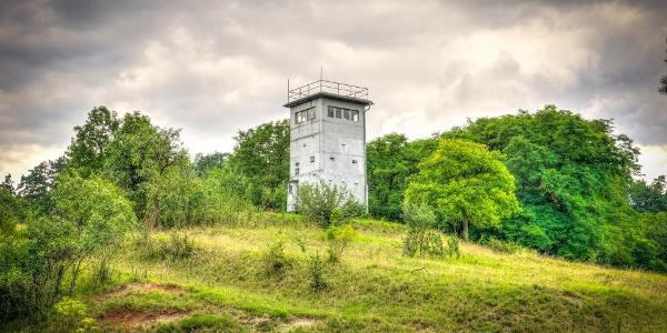Alter Wachturm an der ehem. Innerdeutschen Grenze