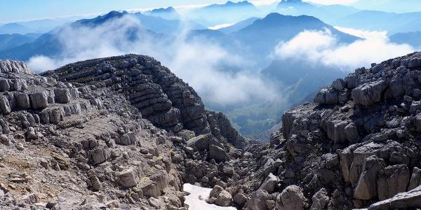 Rückblick zum Ausstieg ~2270m