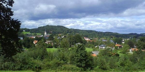 Blick vom Herrenberg nach Prien