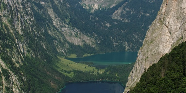 Aussicht auf Königs- und Obersee