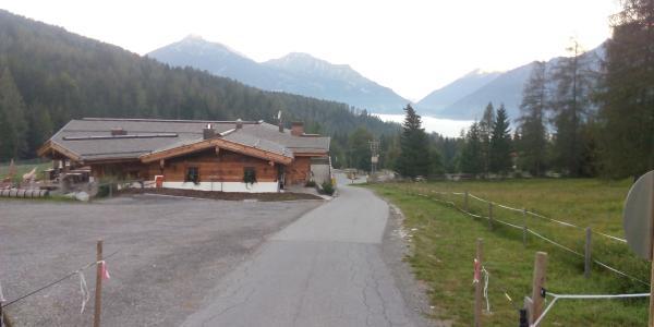 Fahrweg von der Talstation zu Alm
