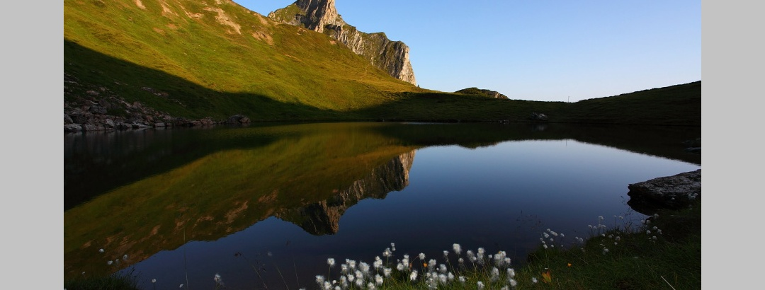 The Schuhflickersee only some time after the sunrise