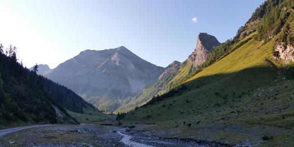 Blick das Kaisertal hinauf auf den Grießkopf