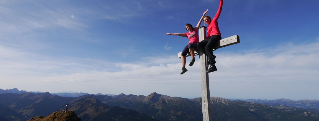 At the peak of the Walser Hammerspitze