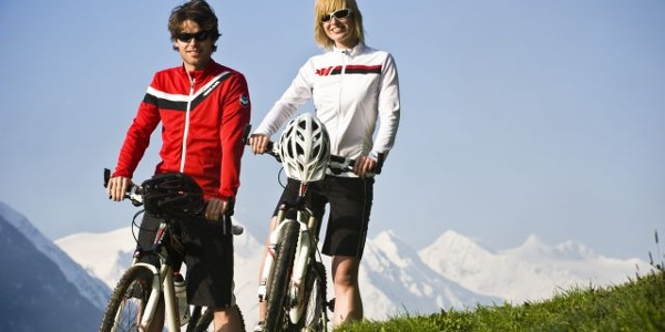 Mountainbiker im Stubaital