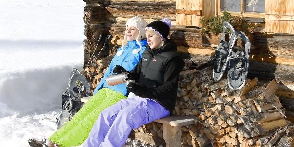 Wohlverdiente Schneeschuhpause