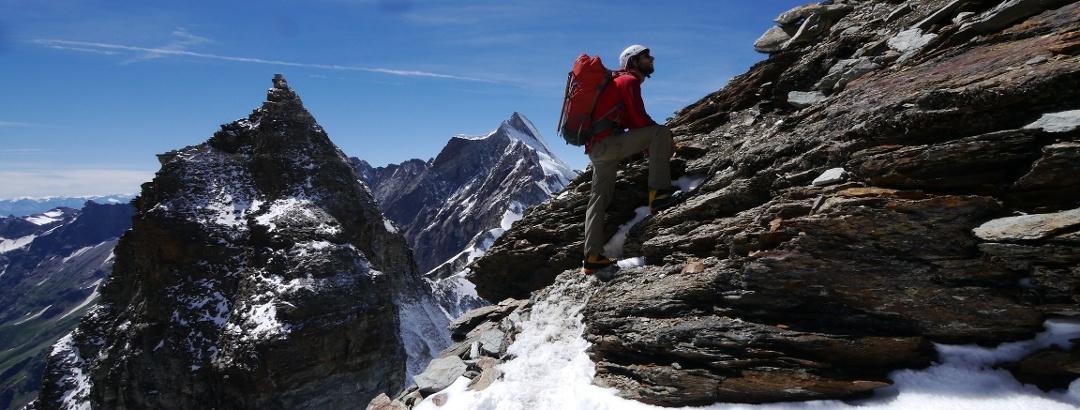 Bergsteiger auf dem Liongrat