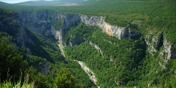 Blick vom Chalet de la Maline: Los gehts.