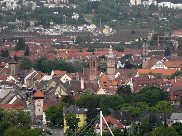 Blick vom Villinger Aussichtsturm auf die Altstadt