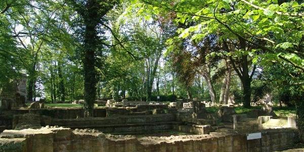 Klosterruine auf dem Disibodenberg - einst Heimat der Hildegard von Bingen