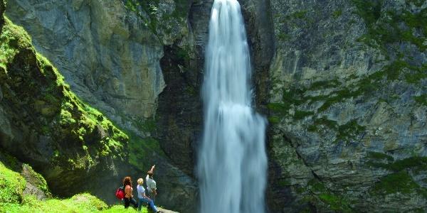 Aussichtskanzel gegenüber des Gößnitzwasserfalls