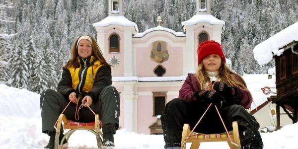 Winterwandern und Rodeln Maria Kirchental