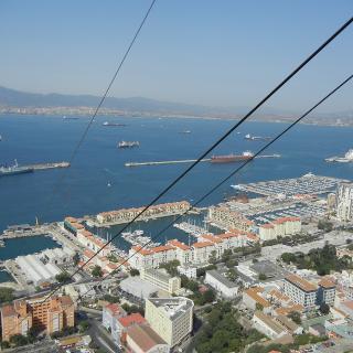 Blick über die Bucht.