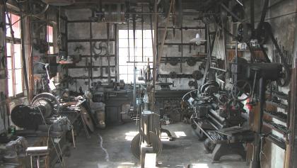 Innenansicht Tüftler-Werkstatt-Museum