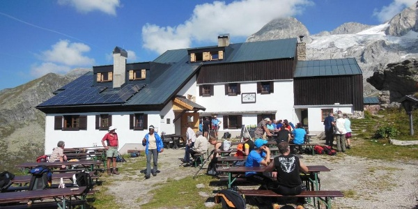 Plauener Hütte - Terrasse