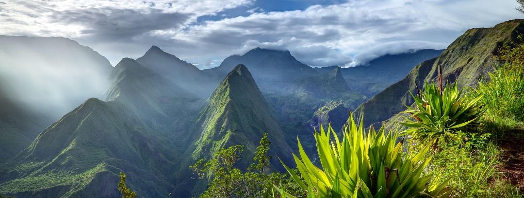 Insel La Réunion Panorama von Mafate