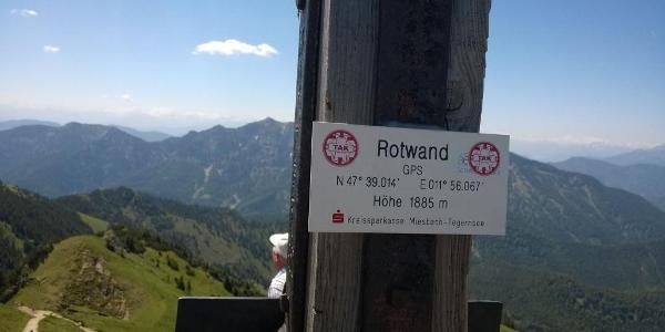 Rotwand Gipfel