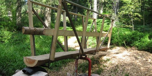 Schlauchbrücke über den Forbach