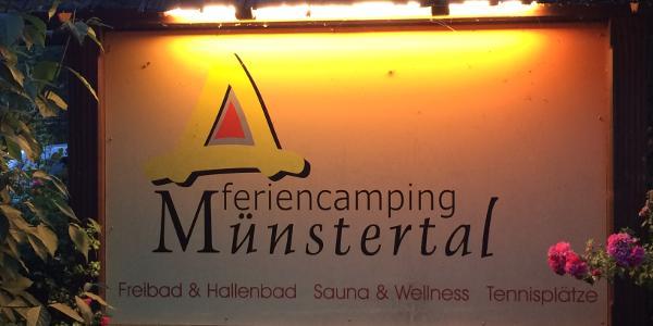 Ziel: Camping Münstertal, bzw. Haltestelle Dietzelbach
