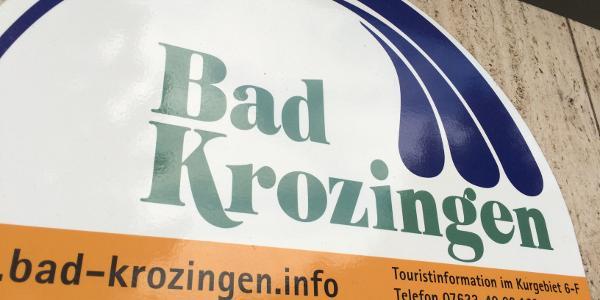 Start beim Bahnhof in Bad Krozingen